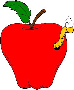 worm-in-apple